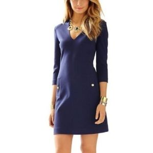NWOT Lilly Pulitzer Charlena Deep V Dress in Navy
